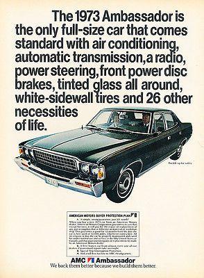 American Motors Corporation American Motors Car Advertising Old Ads