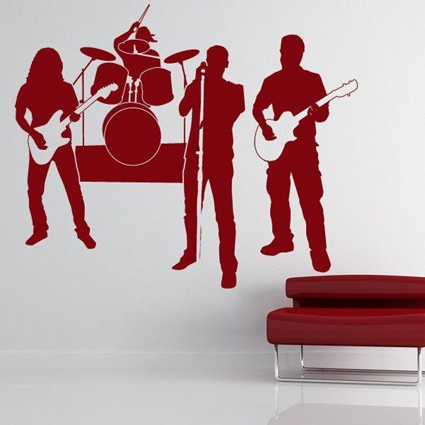 Rock Star Vinyl Wall Decal Music Band Wall Art