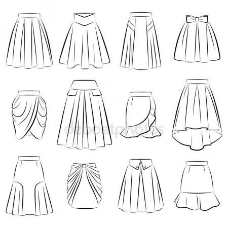 Photo of Collection of women's romantic skirts – Stock Illustration # 157426526