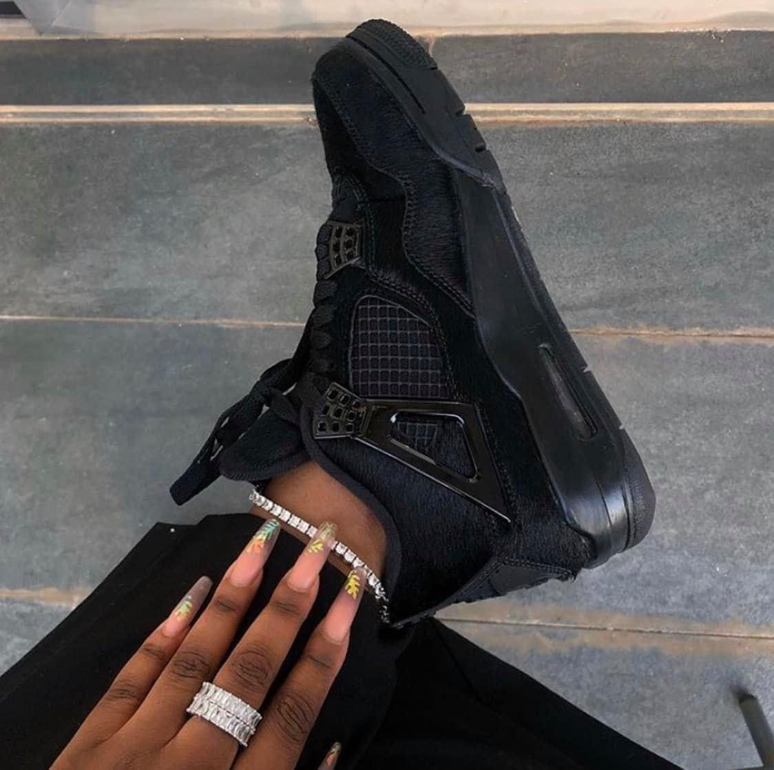 Jordan 4 Black Cats In 2020 Jordan 4 Black Jordan Shoes Girls Jordan Black Cat
