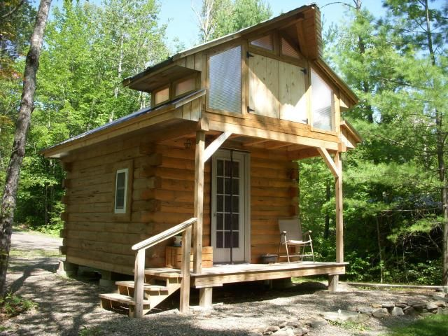 Micro Log Cabin w/2ac Maine Tiny House Listings