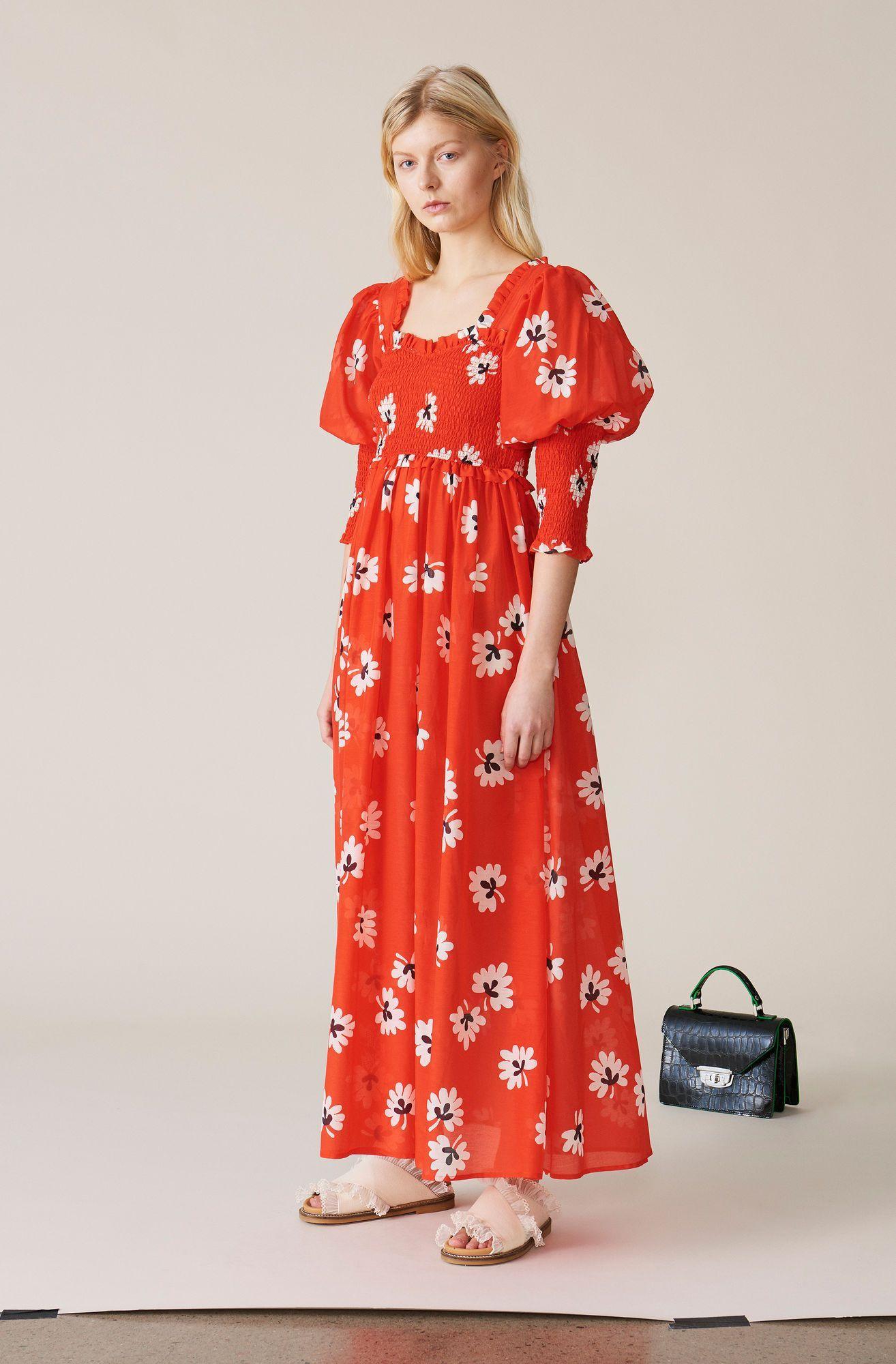 Ganni mesh wrap kjole | FINN.no