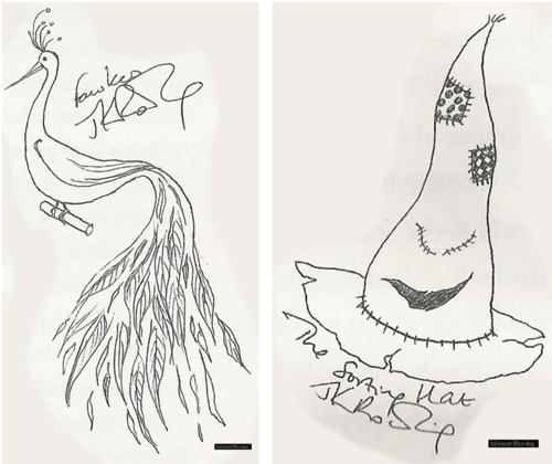 jk rowlings drawings of harry potter