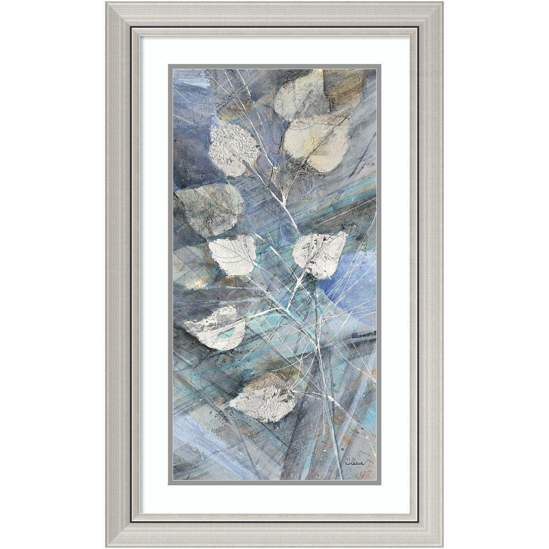 Framed Art Print \'Silver Leaves I\' by Albena Hristova 20 x 32-inch ...