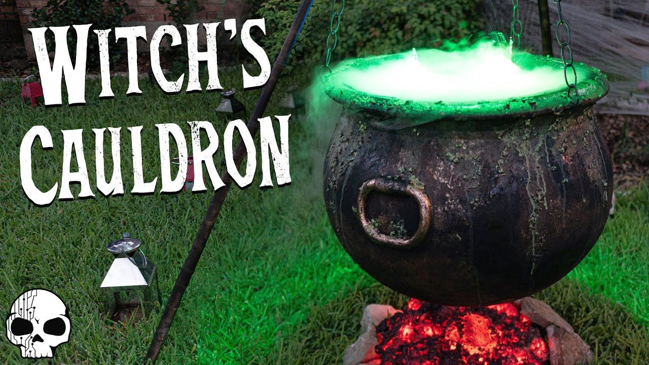 Diy Halloween Props Bubbling Witch S Cauldron With Glowing Coals