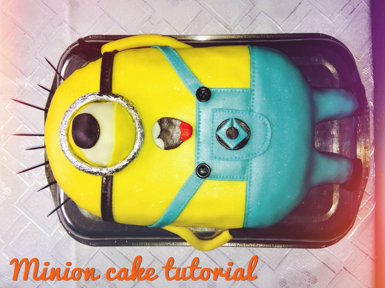 Minion cake easy tutorial step by step recipes Pinterest