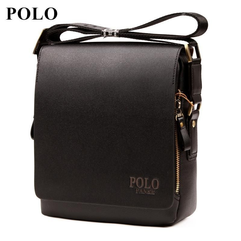 2017 POLO New Arrival Fashion Business pu Leather Men Messenger Bags  Promotional Crossbody  MensFashionBusiness 839a3912e48c6