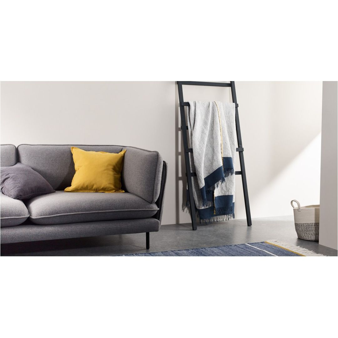 Elke Decke 130 X 170 Cm Blau Und Senfgelb In 2020 Sofa Home