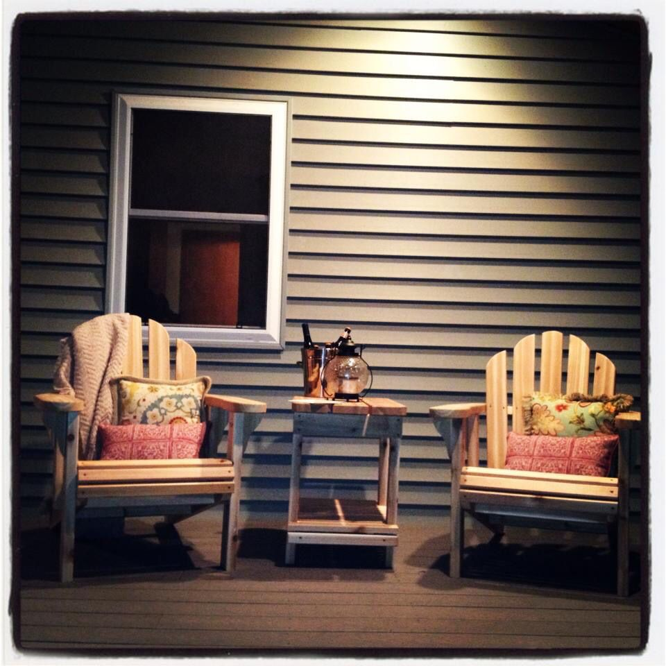 Our back porch where we spend our warm summer nights in mn