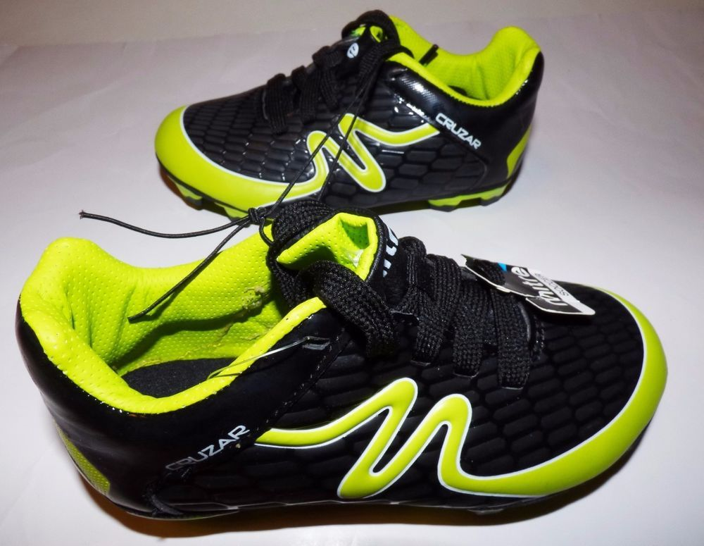 f370197f8 NEW Mitre Cruzar Black Neon Yellow Soccer Cleats Shoes Boy Girl Youth Kid  12 NIB #Mitre