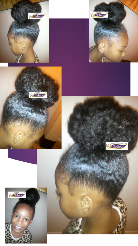 Castor Jelly Amp Messy Top Knot Bun Natural Hair Styles