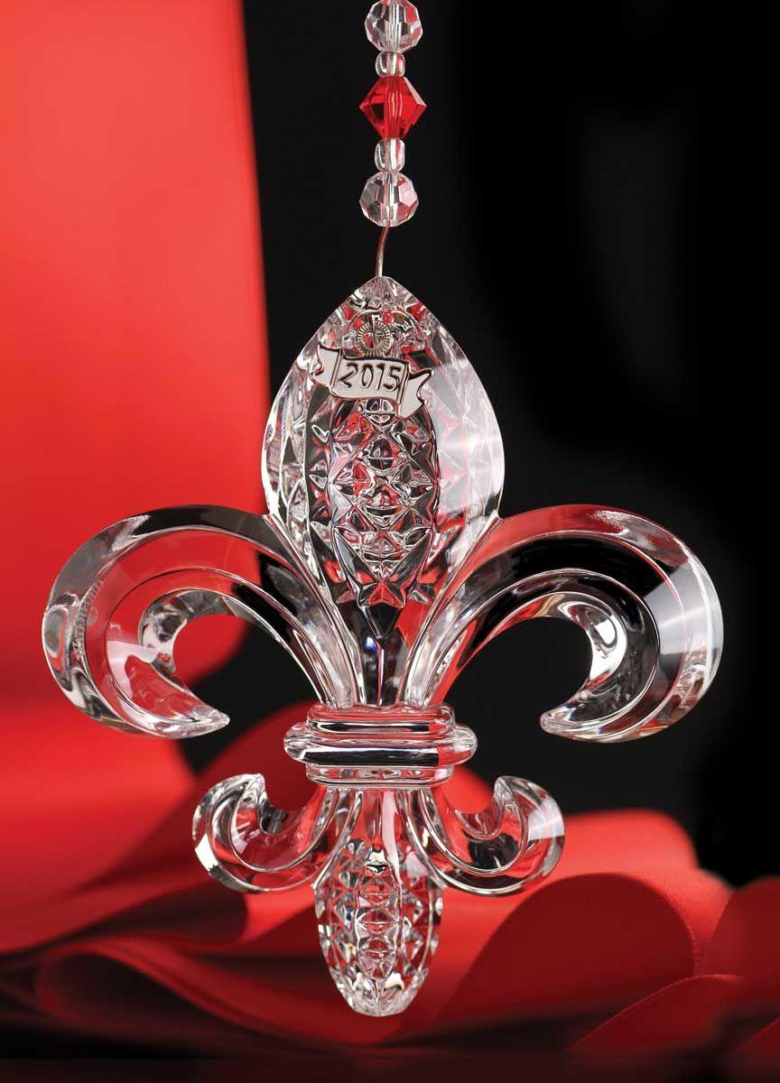 Waterford Fleur De Lys 2015 Ornament, Clear