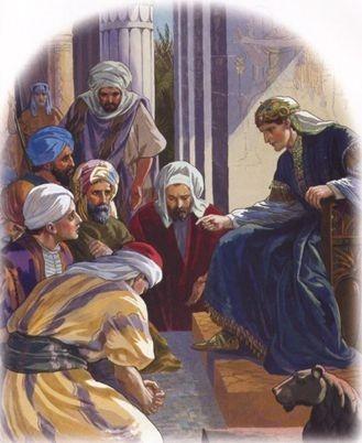 Det blir hungersnød i landene rundt Egypt, og brødrene til Josef kommer til Egypt for å få hjelp. De kjenner han ikke igjen til å begynne med. Den yngste broren er ikke med, og han lurer dem så de må hente han og faren med til Egypt.