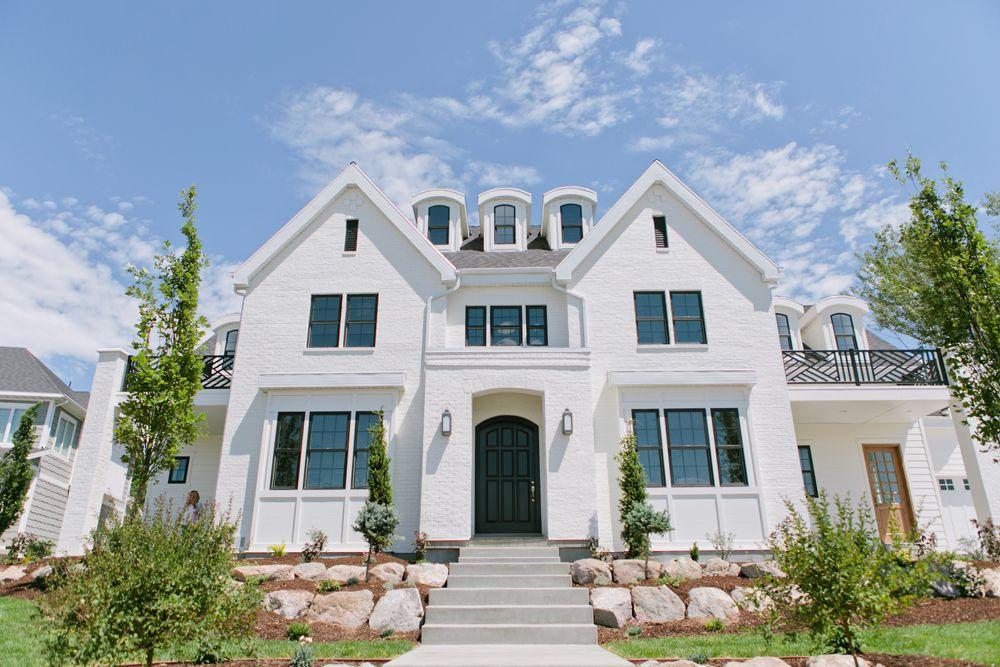 Design Tip White Brick Modern farmhouse exterior, House
