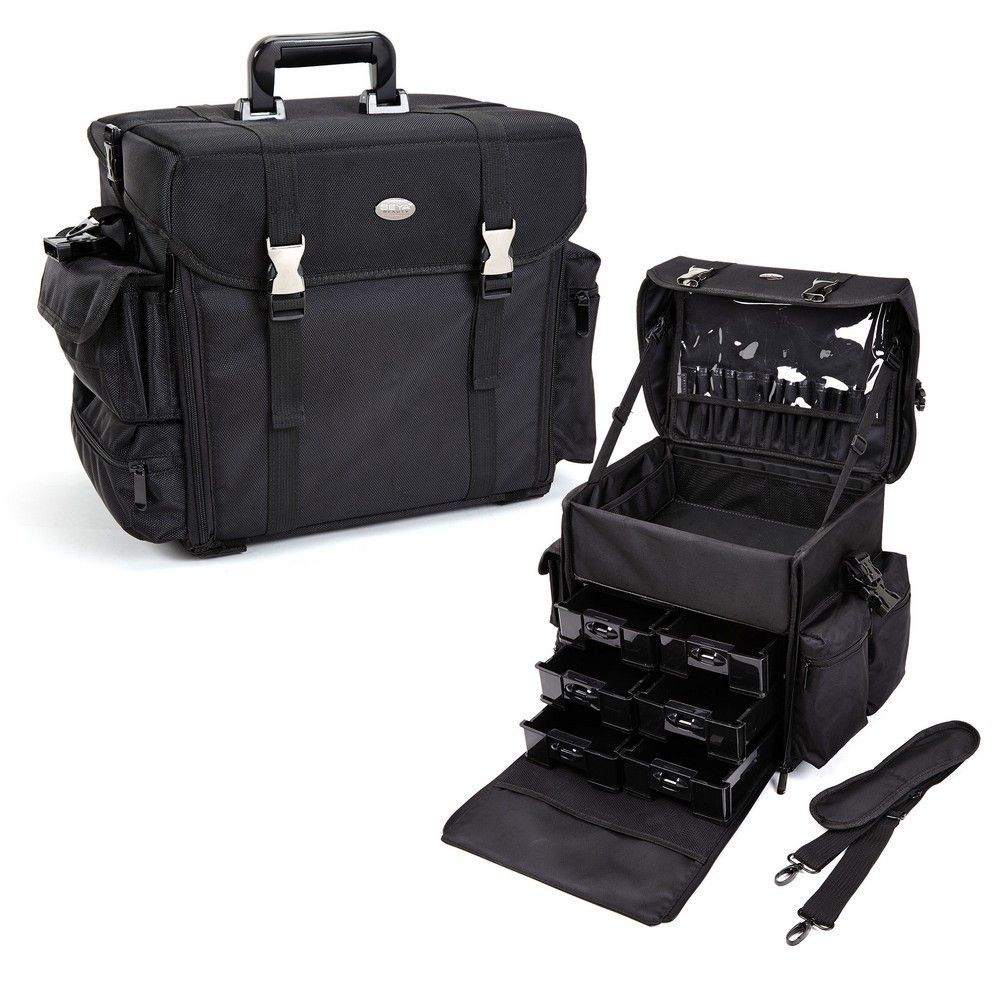 Pro Soft Sided Carry On Cosmetic Case w/ Trays Pro Soft