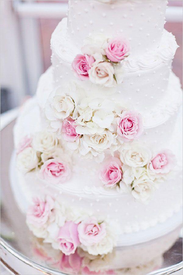 mariage-rose-et-blanc-wedding-cake | Pink + White | White ...