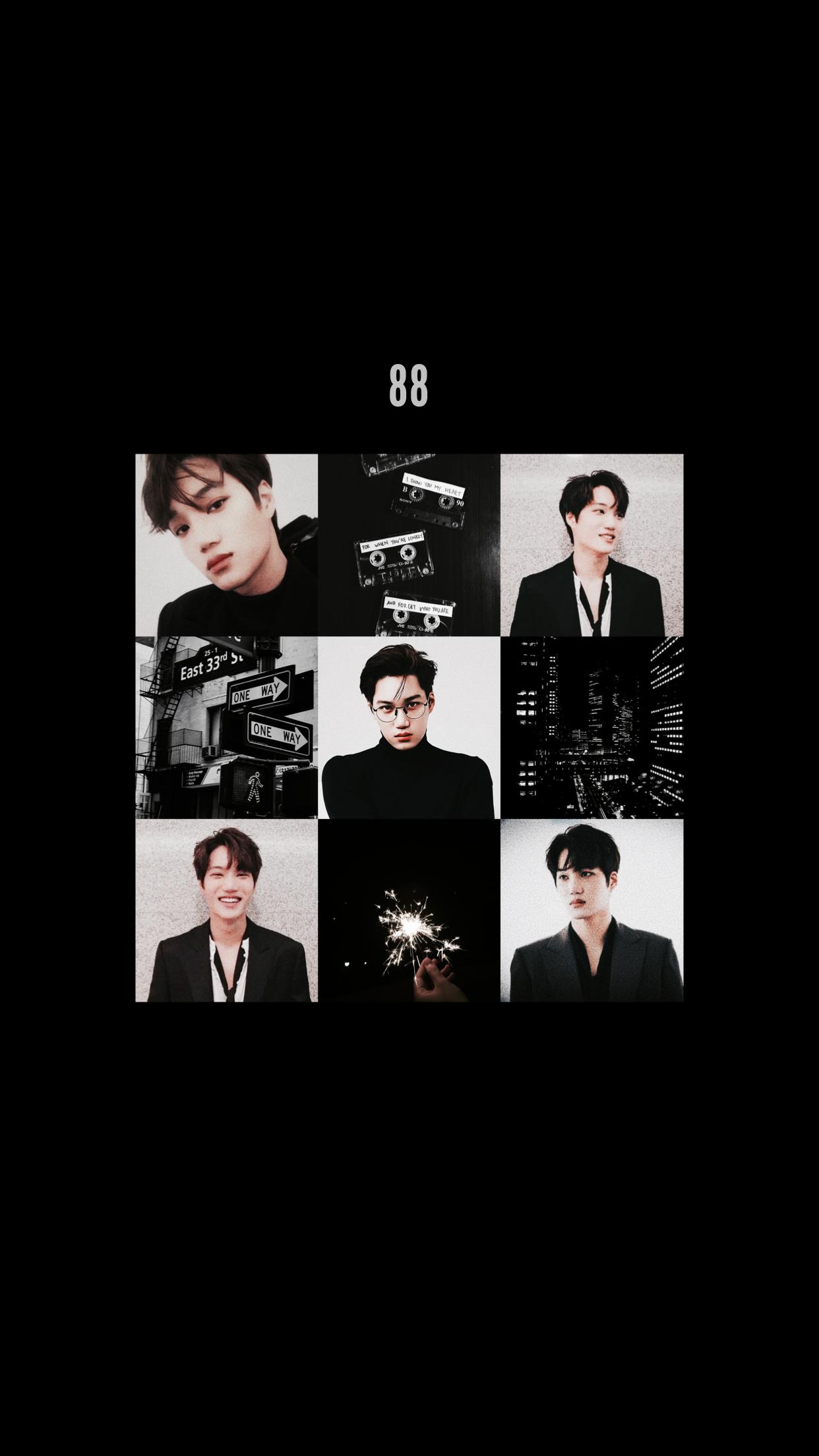 Exo Wallpaper Kai Jongin Exowallpaper Black Gambar Wallpaper Ponsel Exo