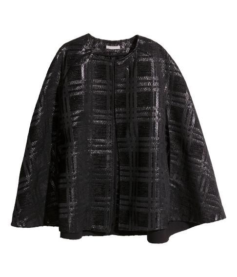 Amal Clooney's Fringed Saint Laurent Cape Has Us Feeling Inspired   H&M Textured Cape