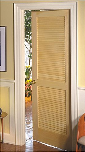 High Quality Masonite Interior Wood Vented Louver Door **white Or Painted A Color In  Front Entry?