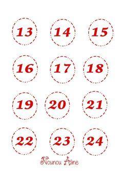 Résultat de recherche d'images pour numéros calendrier de l'avent a imprimer #numerocalendrieraventaimprimer