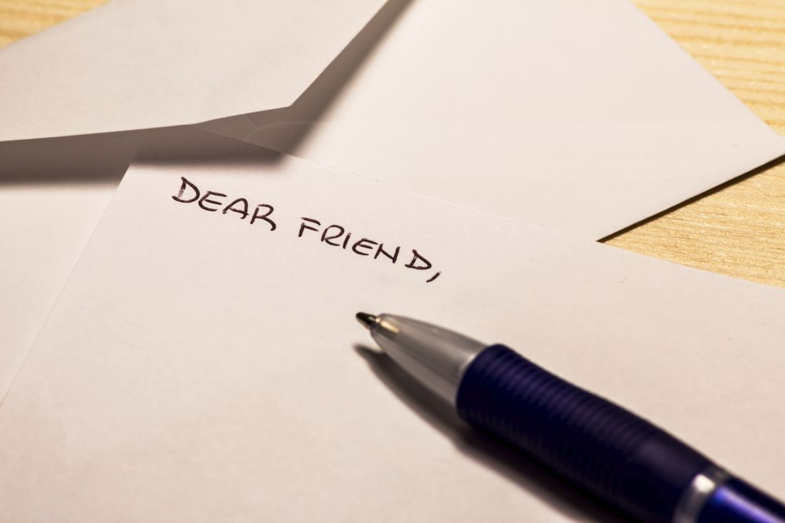 Writing Your First Letter to a Pen