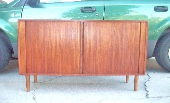 Danish Credenza Los Angeles : Danish teak credenza tambour doors los angeles