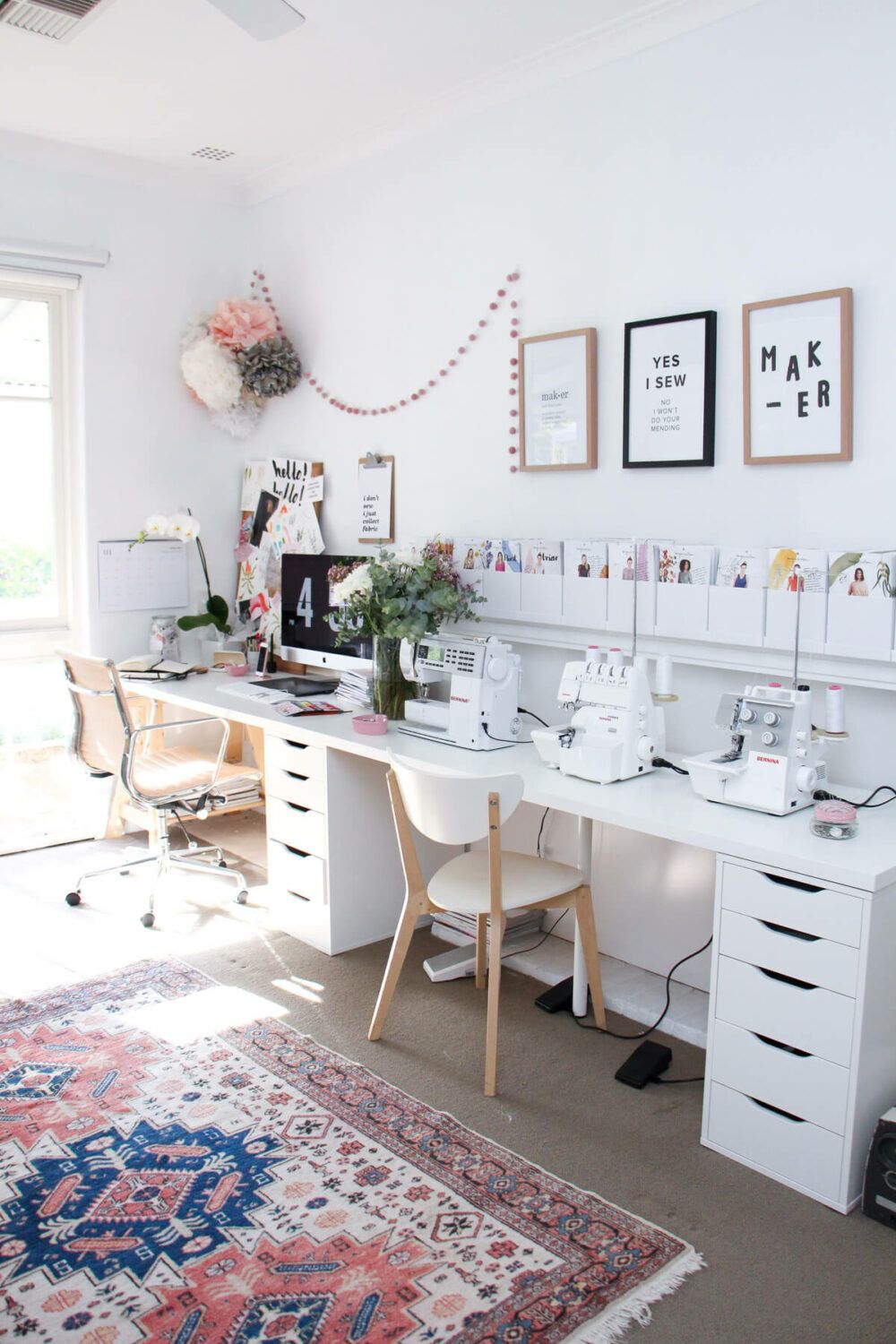 20 Pretty Sewing Room Ideas For An Inspiring Sewing Space 6 Get All Ideas About Home In 2020 Sewing Room Design Sewing Room Inspiration Craft Room Decor
