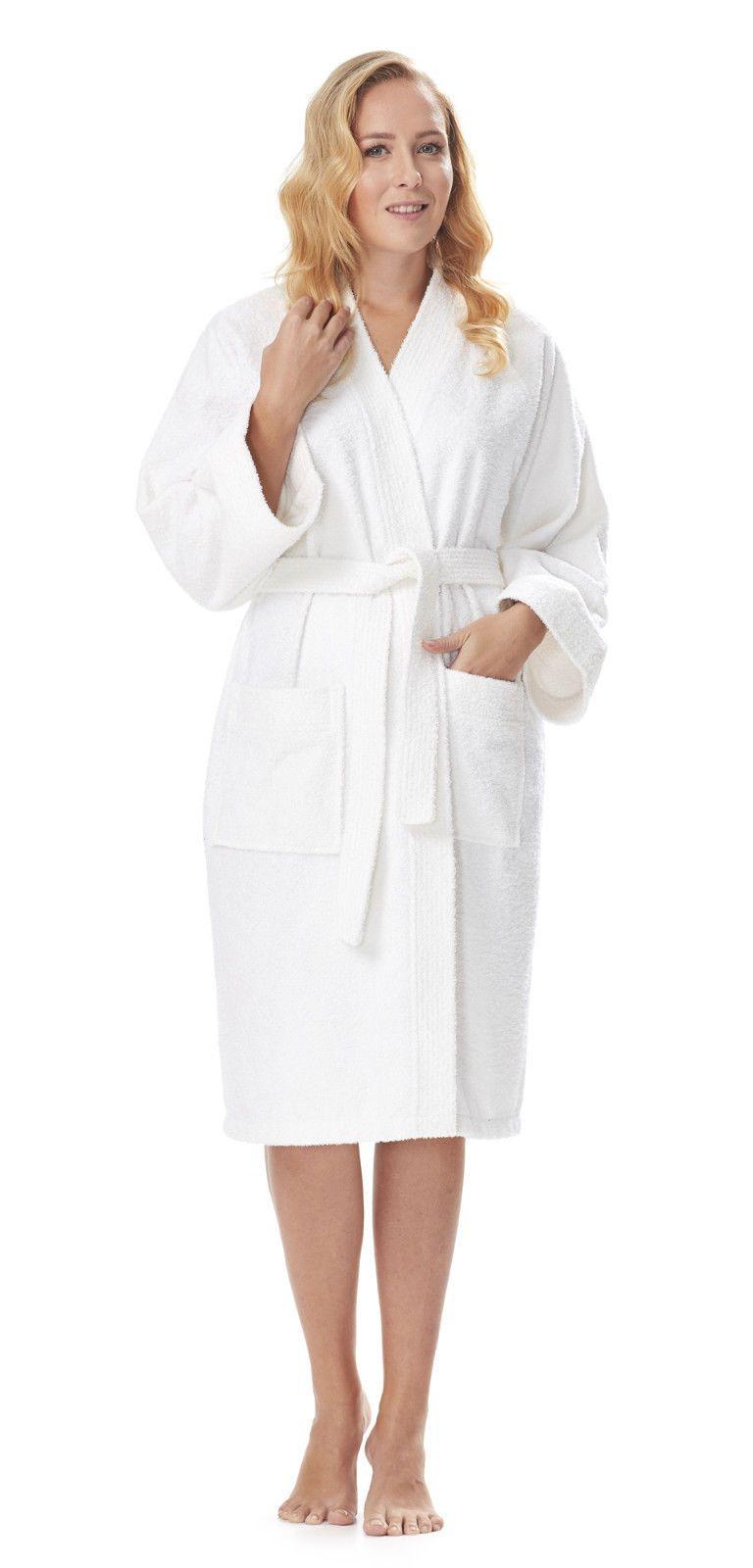 8f632f9c77 Arus Women s Short Kimono Lightweight Bathrobe Turkish Cotton Terry Cloth  Robe