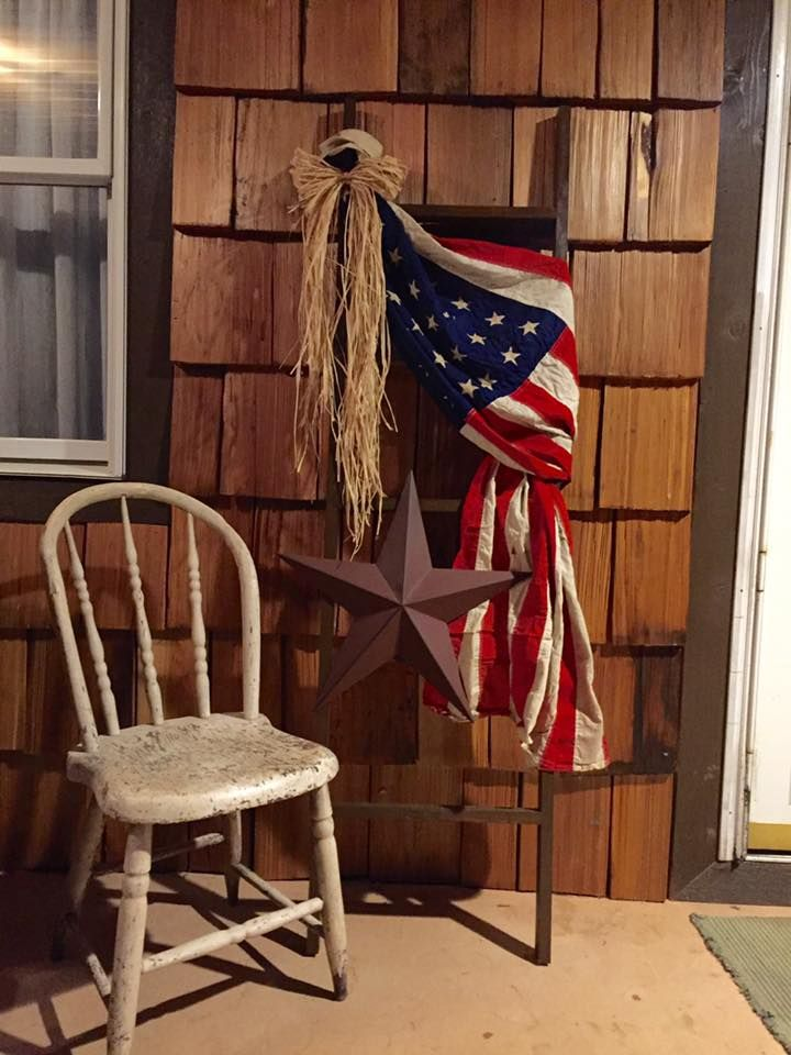 So excited about my rustic American flag on my front porch! Quick and easy project