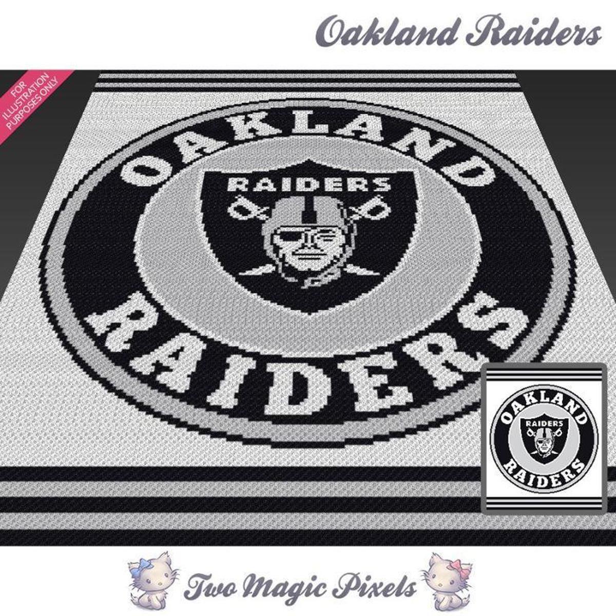 Oakland Raiders Crochet Graph