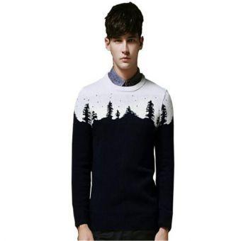 Lace Inn® hombres otoño & Invierno Navidad Diseño cuello redondo Pullover sweaters