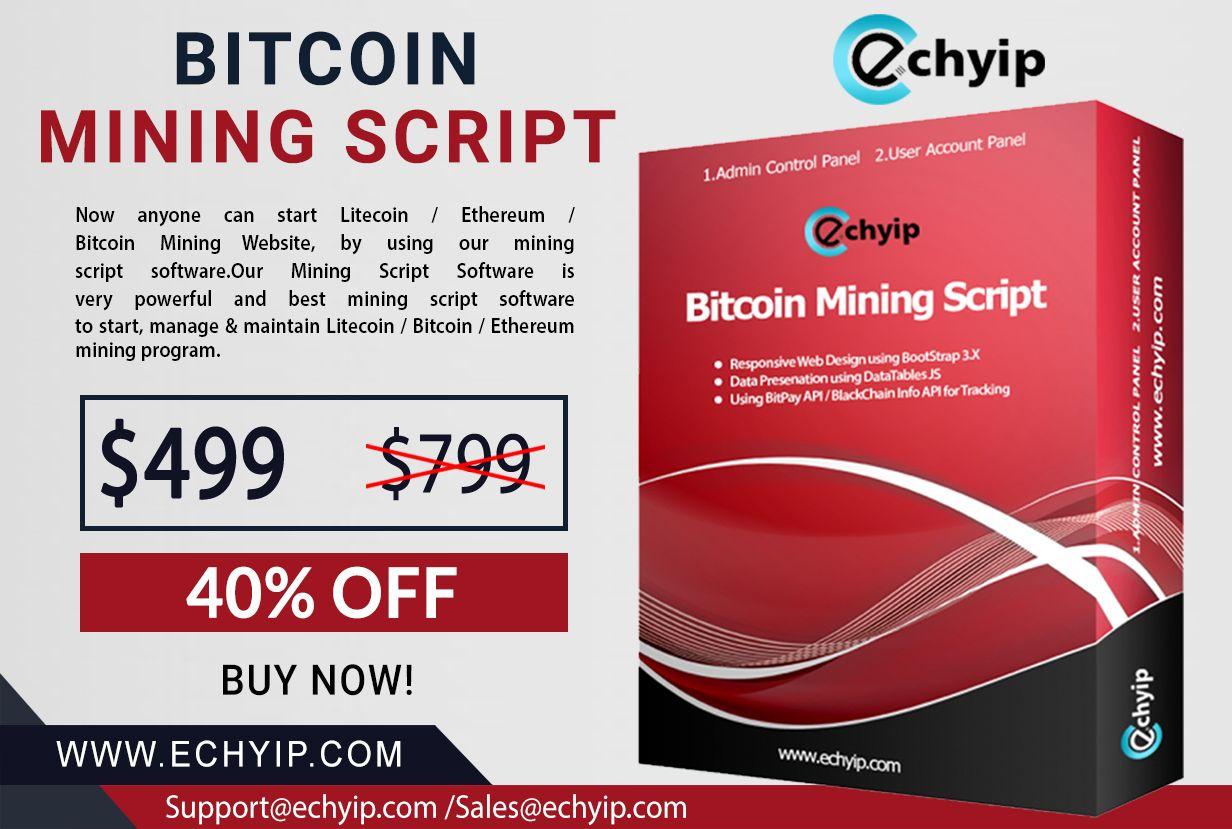 ECHYIP bitcoin mining script allows you to maintain your bitcoin