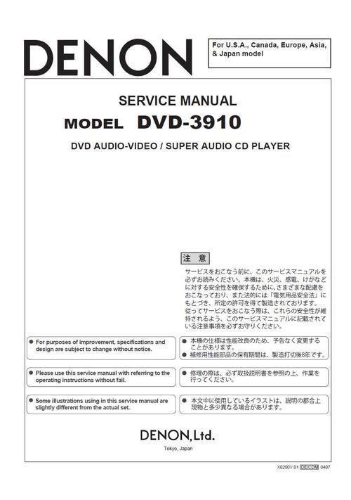 DENON DVD 3910 MANUAL PDF