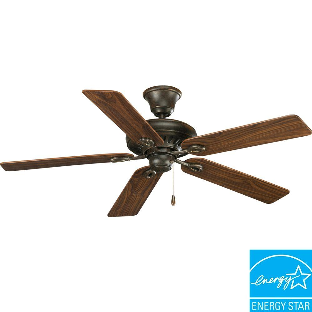 Progress lighting airpro signature in forged bronze ceiling fan