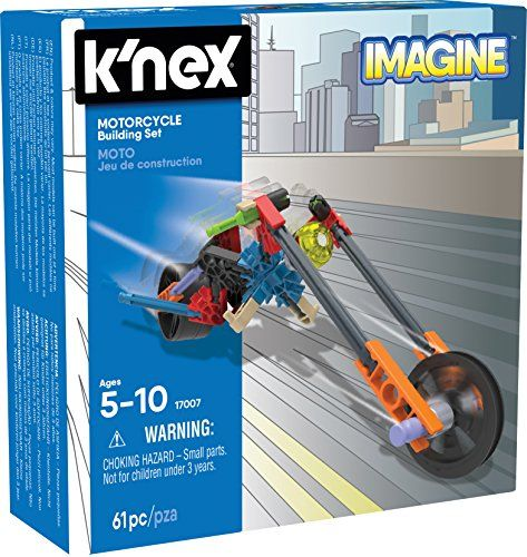 K'NEX - Motorcycle Building Set  61 Pieces  For Ages 5  Construction Education Toy *** Click image for more details.(It is Amazon affiliate link) #likealways