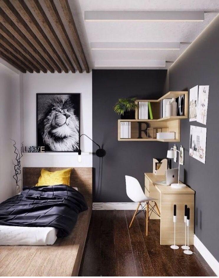 Pin By Suncica Damjanovic On Mak Small Apartment Bedrooms Minimalist Bedroom Decor Small Room Design