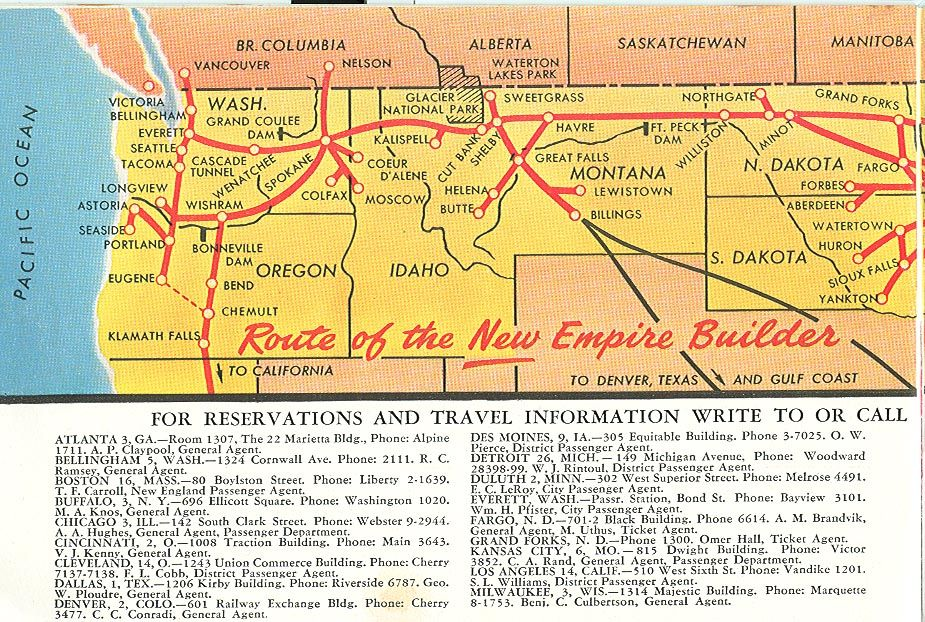 Empire Builder Route Empire Builder route map Lines