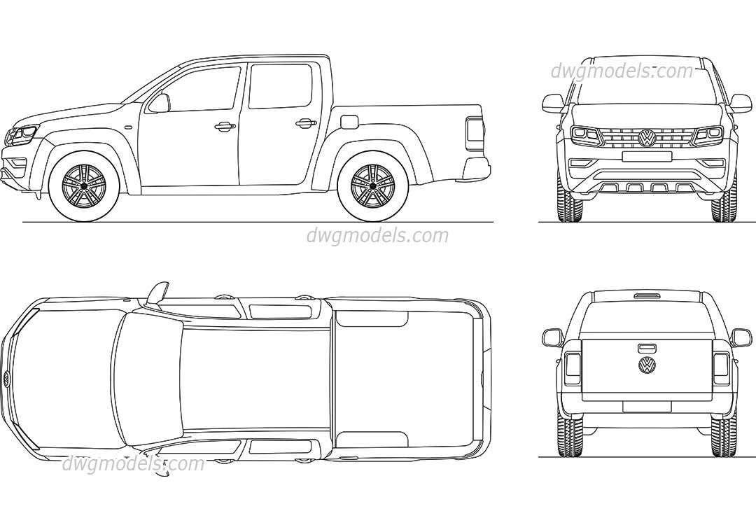 volkswagen amarok 2017 cad drawings oki like vw too