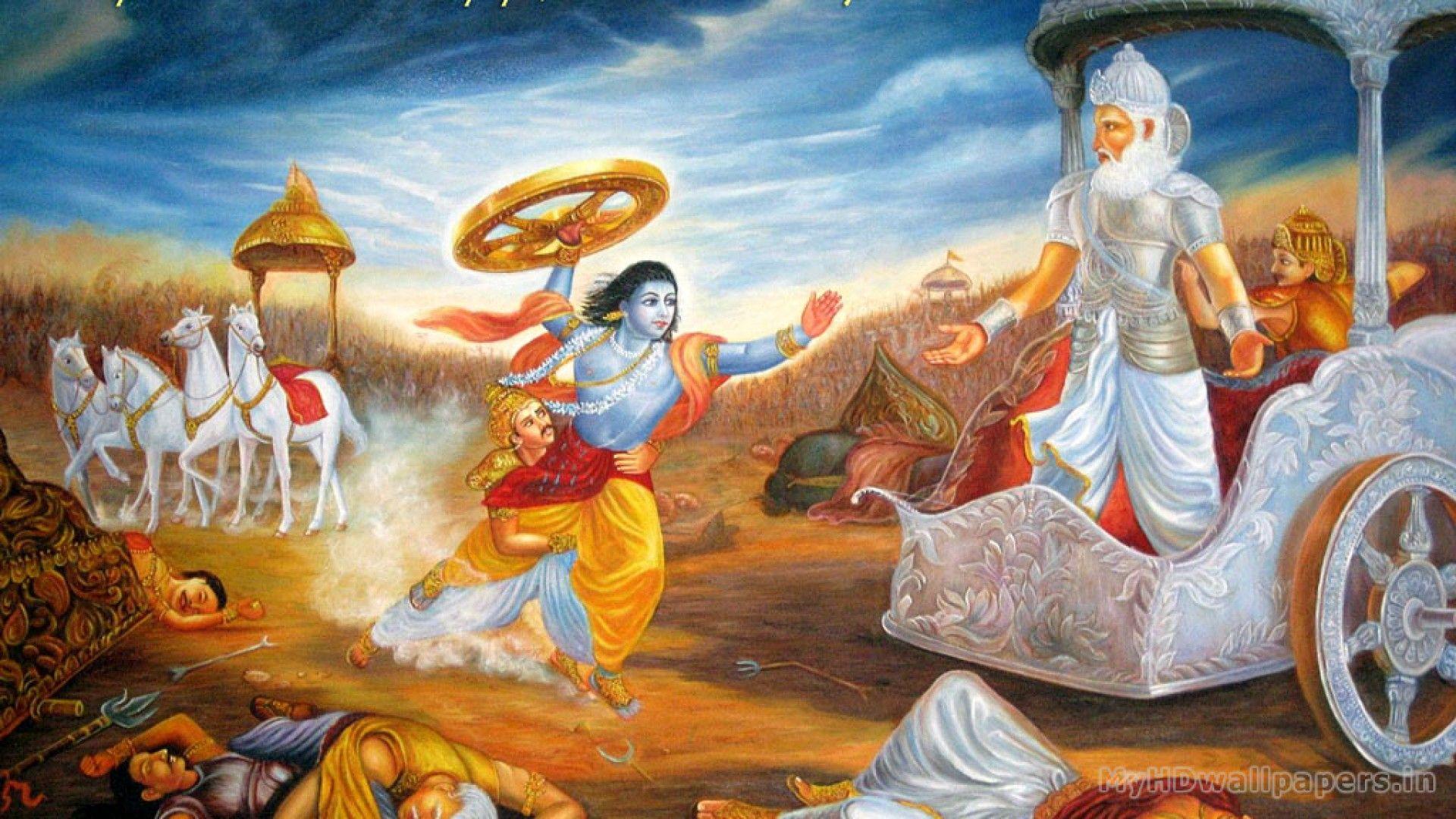 Click Here To Download In Hd Format Mahabharat Wallpaper Desktop Http Www Superwallpapers In Wa Lord Krishna Images Radha Krishna Art Krishna Art