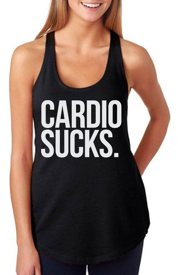ce576fa3ea063c Cardio Sucks Tank Women s Gym Workout Fitness Booty by RodDesigns ...