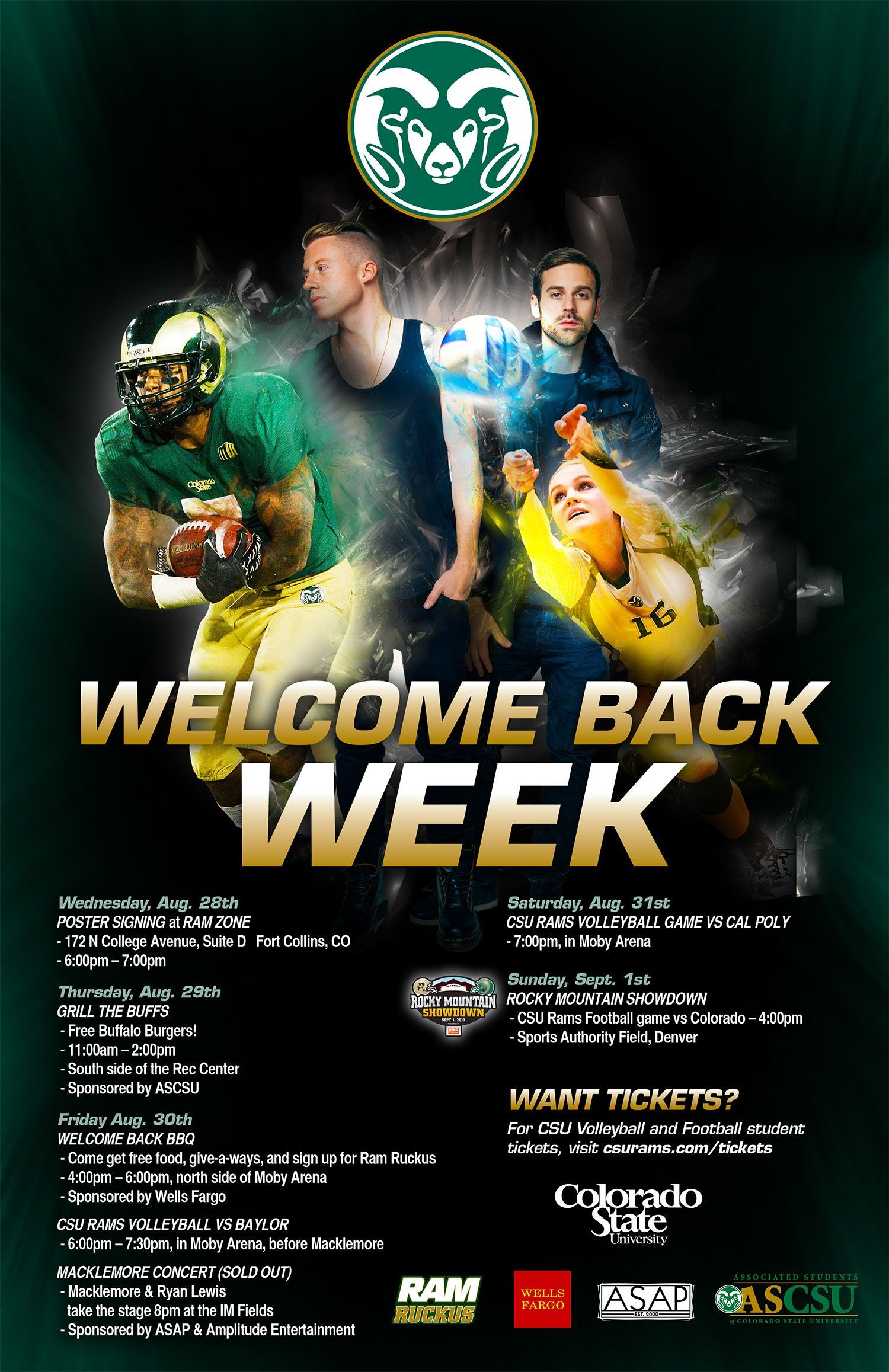 Welcome Back Rams We Have An Amazing Welcome Back Week For You Including Grill The Buffs The Welcome Back Bbq Weekend Fun Volleyball Games Sports Authority