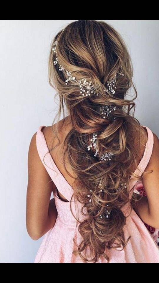 Bridal Hair Vine Extra Gold Silver Rose Gold Vine Long Hair Vine