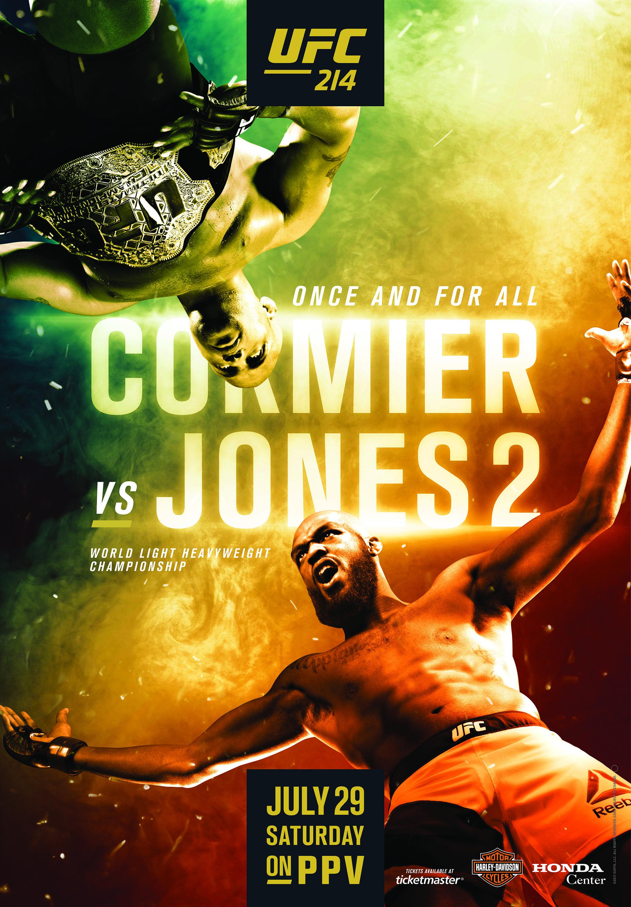 Ufc 214 Cormier Vs Jones Ii 2017 07 29 Ufc Poster Ufc Mma