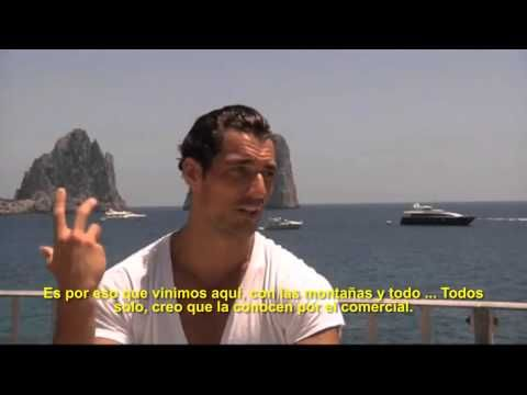 David Gandy 'Light Blue' 2010 Entrevista desde el set | OhMyGandy! - YouTube