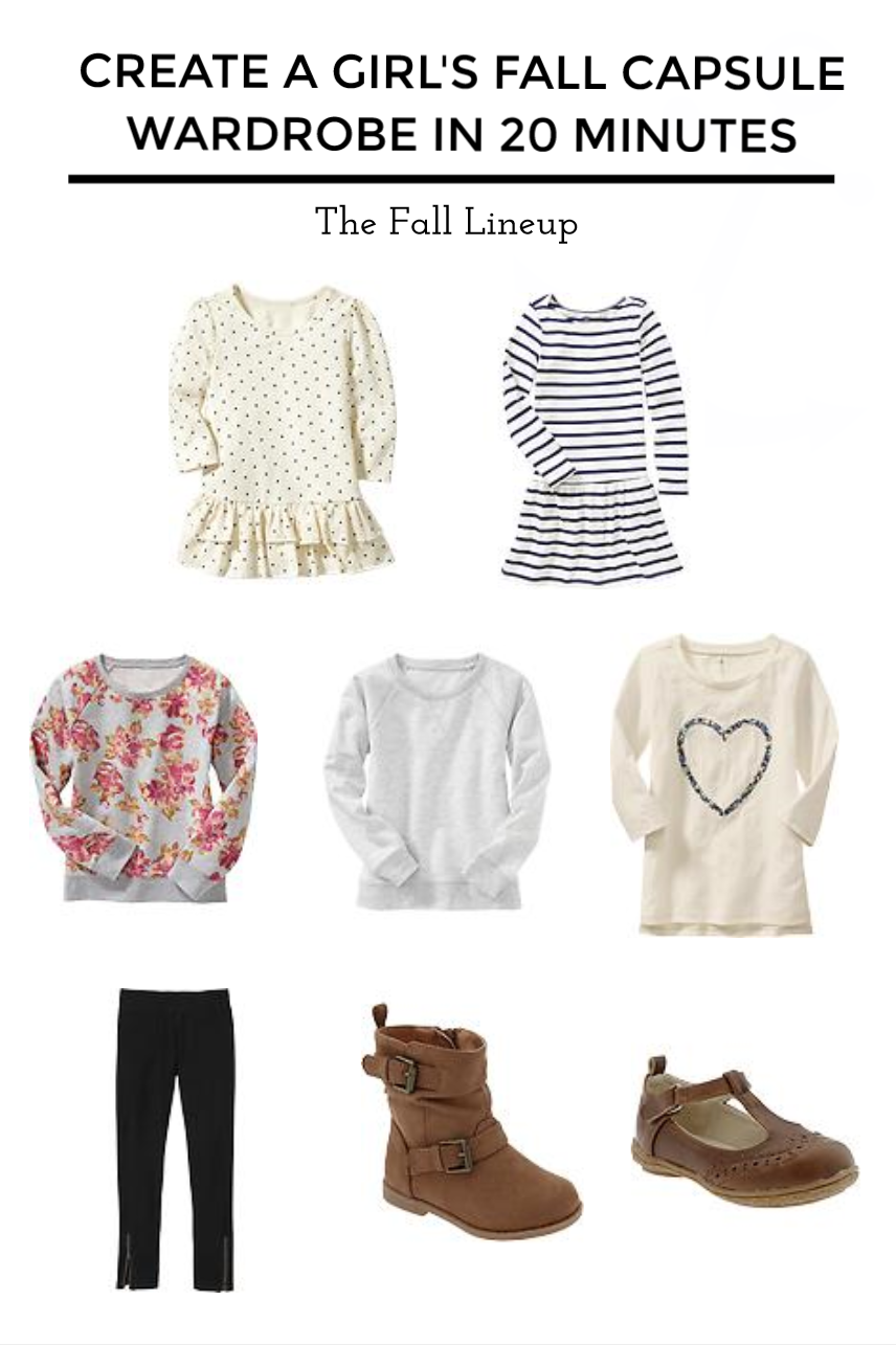 Create A Girl's Fall Capsule Wardrobe In 20 Minutes