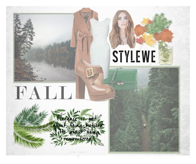 """""""Stylwe"""" by marina-angel-l ❤ liked on Polyvore featuring Nika, Michael Kors, Fall, Heels, bag, coat and stylewe"""