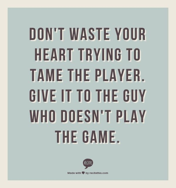 If A Guy Is A Player