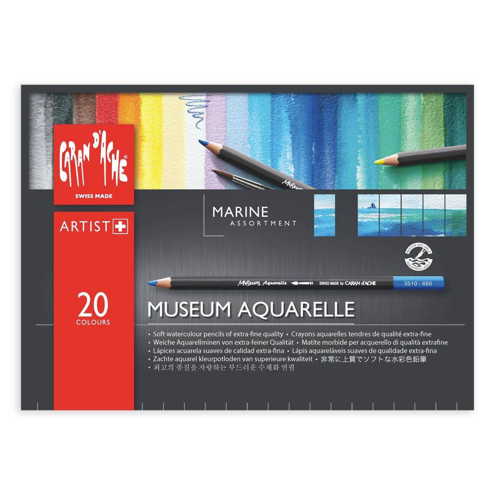 Caran D Ache Museum Aquarelle Pencil Sets Marine Set