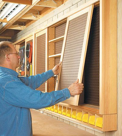 Sliding Door Pegboard Cabinet Woodworking Plan Take A Closer