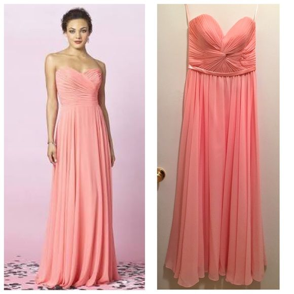 Gorgeous Pink Gown Never used. The way this dress flows is just ...